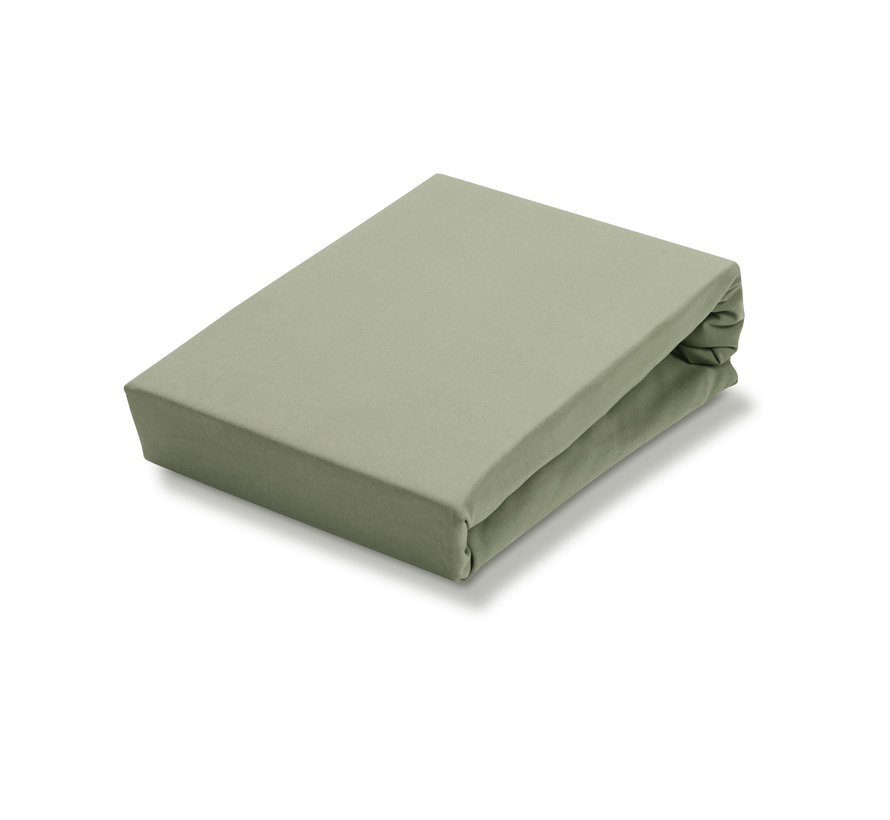 Jersey Soft topper fitted sheet, Light Olive (stretch) SLGO721T