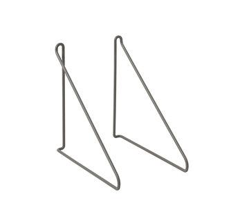 Blomus Set di ripiani PANOLA / 2 (grigio acciaio)