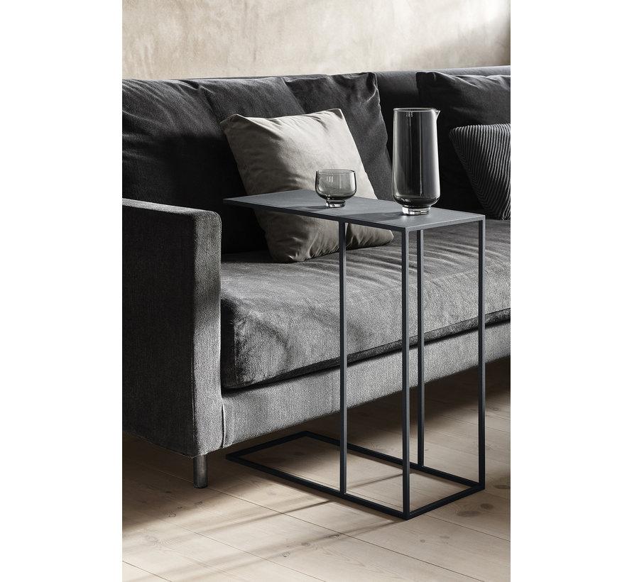 Tavolino FERA grigio acciaio (66014)