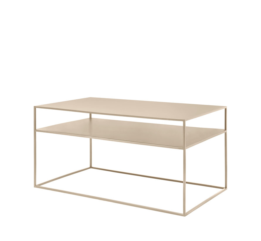 Tavolino FERA in acciaio verniciato a polvere, colore Nomad (66008)