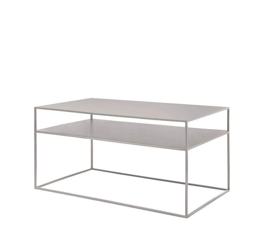Tavolino FERA in acciaio verniciato a polvere, colore Mourning Dove (66009)