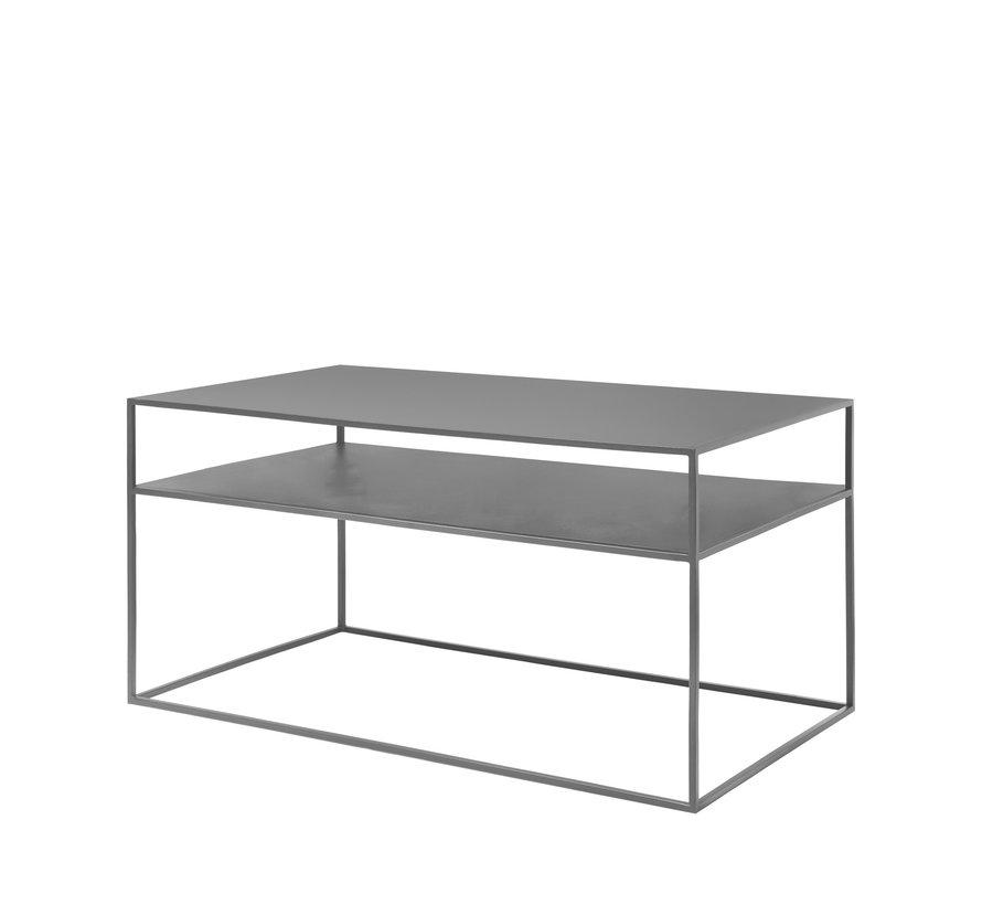 Tavolino FERA in acciaio verniciato a polvere, colore Steel Grey (66010)