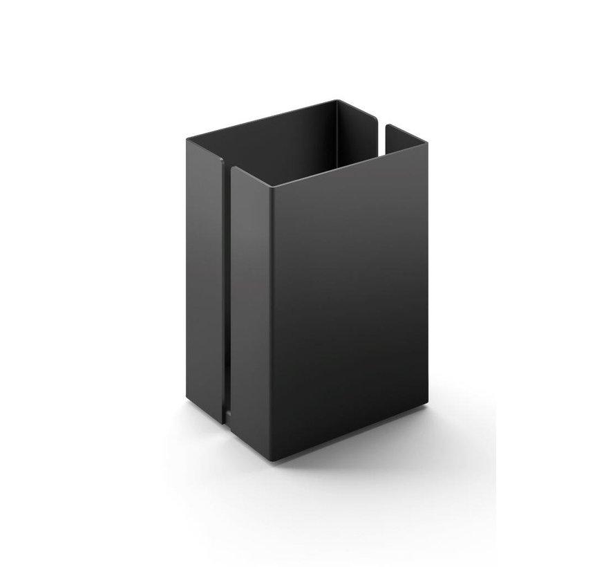 POTES storage box 7.5 cm 40536 (powder coated steel, black)
