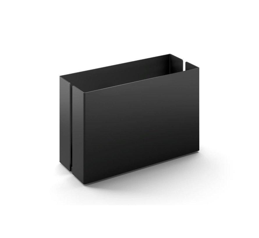 POTES opbergbakje 15 cm 40535 (gepoedercoat staal, zwart)