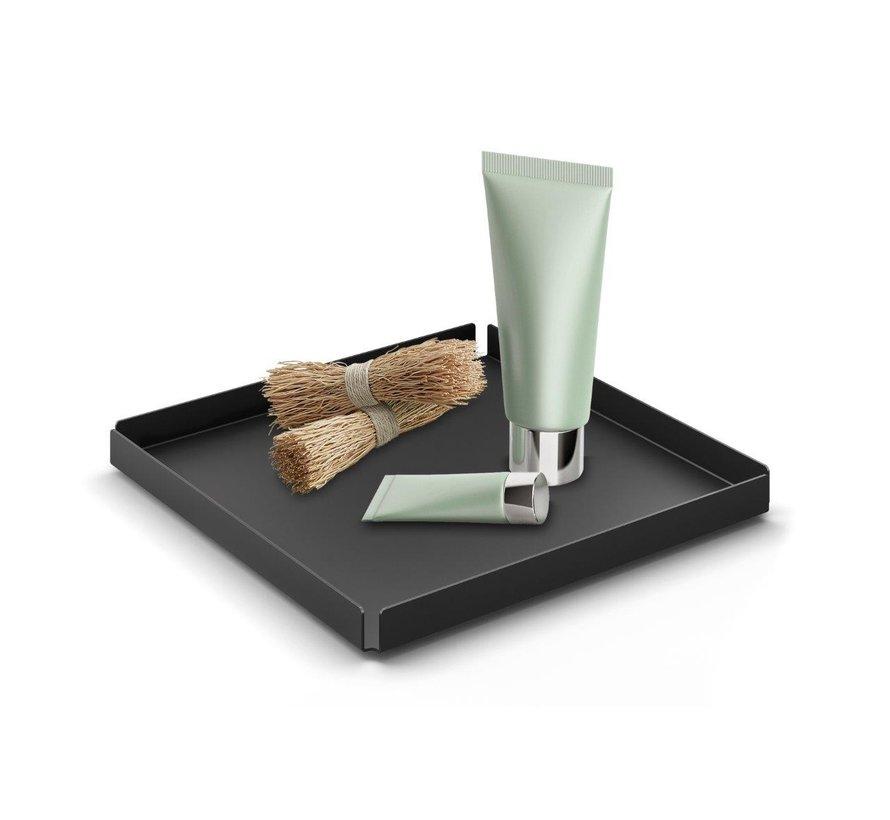 Vassoio / ciotola POTES 20x20 cm (acciaio verniciato a polvere, nero)