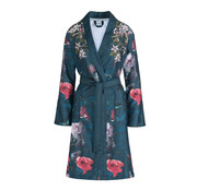 Vandyck Bathrobe LILY Nightblue (floral print)
