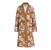 Vandyck Bathrobe DAISY Sandy Gold (floral print)