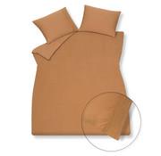 Vandyck Duvet cover PURE 07 Cognac 140x220 cm (linen / satin cotton)