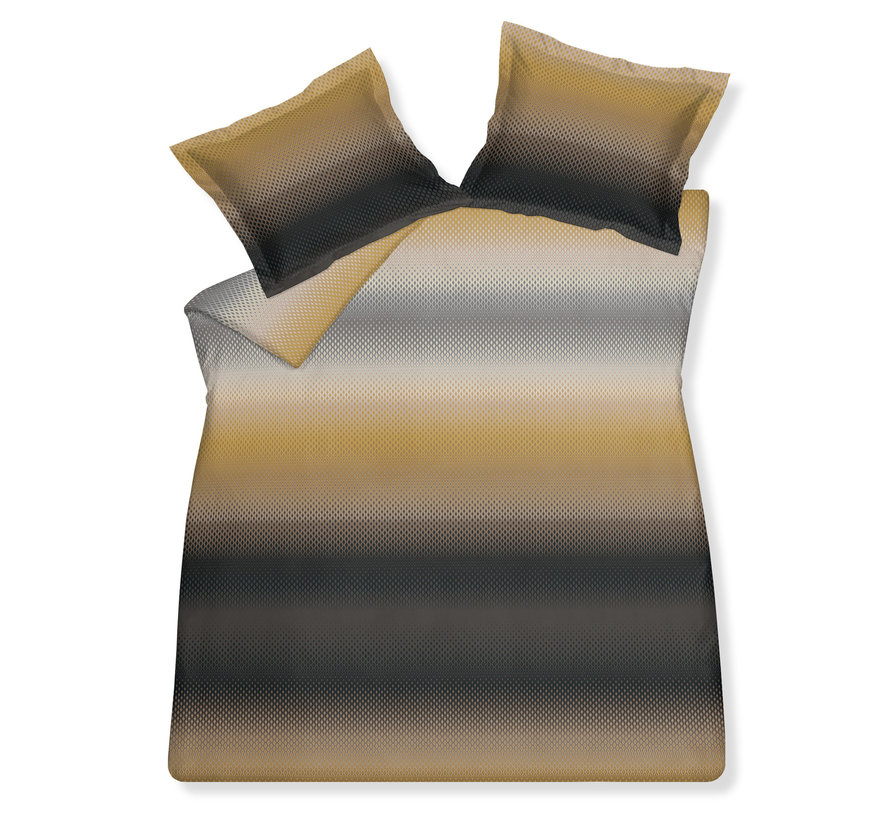 Duvet cover COSMIC Structure Sandy Gold 240x220 cm (satin) SABR20211