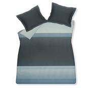 Vandyck Duvet cover RHINESTONE Storm Blue 240x220 cm (satin cotton)