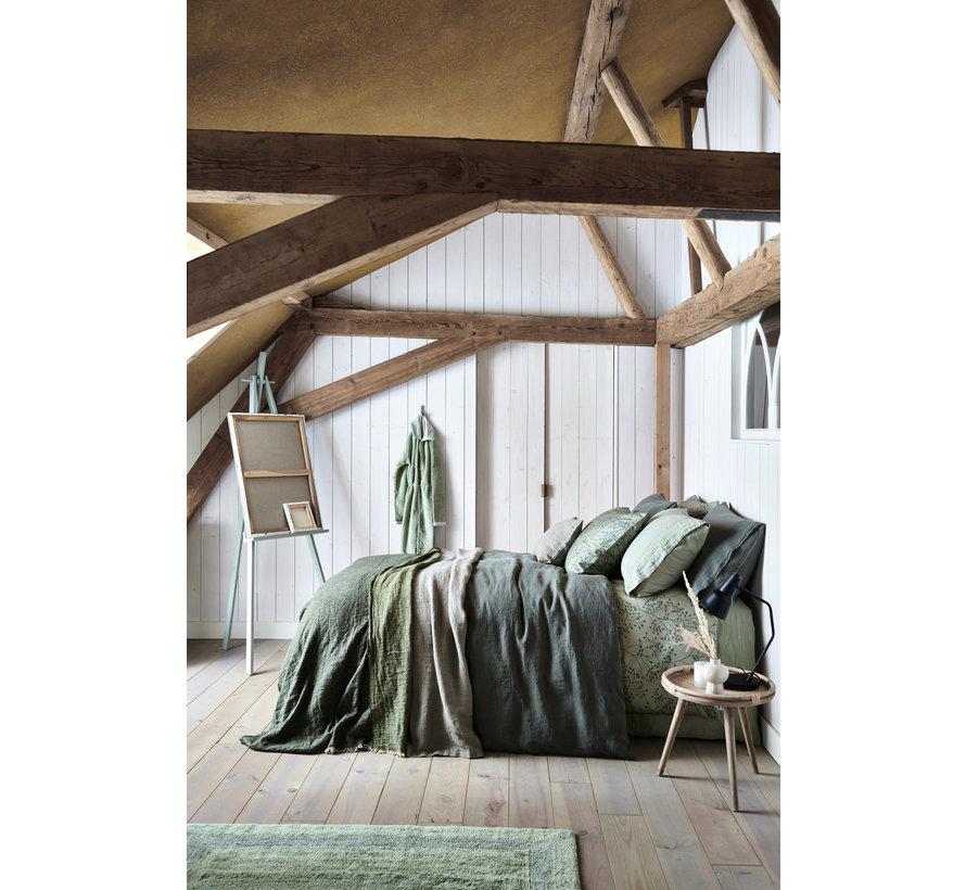 WASHED COTTON duvet cover 200x220 cm Gray (cotton)