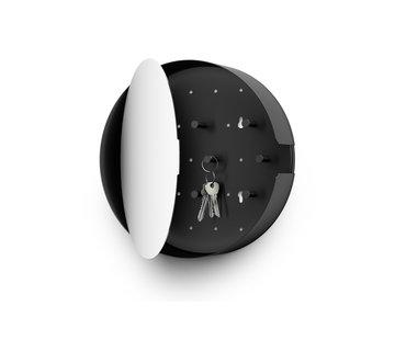 ZACK NOLMA key cabinet with mirror 28 cm (black)