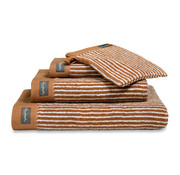 Vandyck Bath towel HOME Petit Ligne Cognac 70x140 cm (set / 3 pieces)