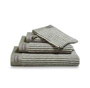 Vandyck Handdoek HOME Petit Ligne Olive 60x110 cm (set/3 stuks)
