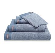 Vandyck Gæstehåndklæde HJEM Mouliné Vintage Blue (sæt / 6 stk.)
