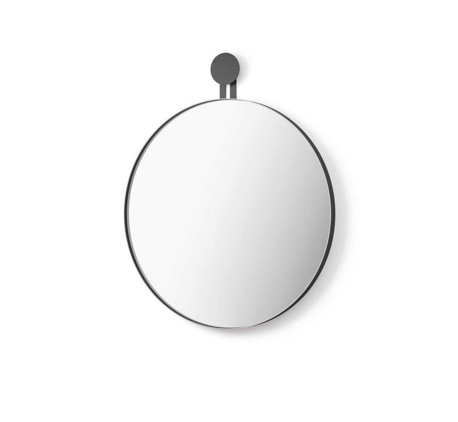 Zack Morma Runder Wandspiegel Durchmesser 50 Cm Farbe Schwarz