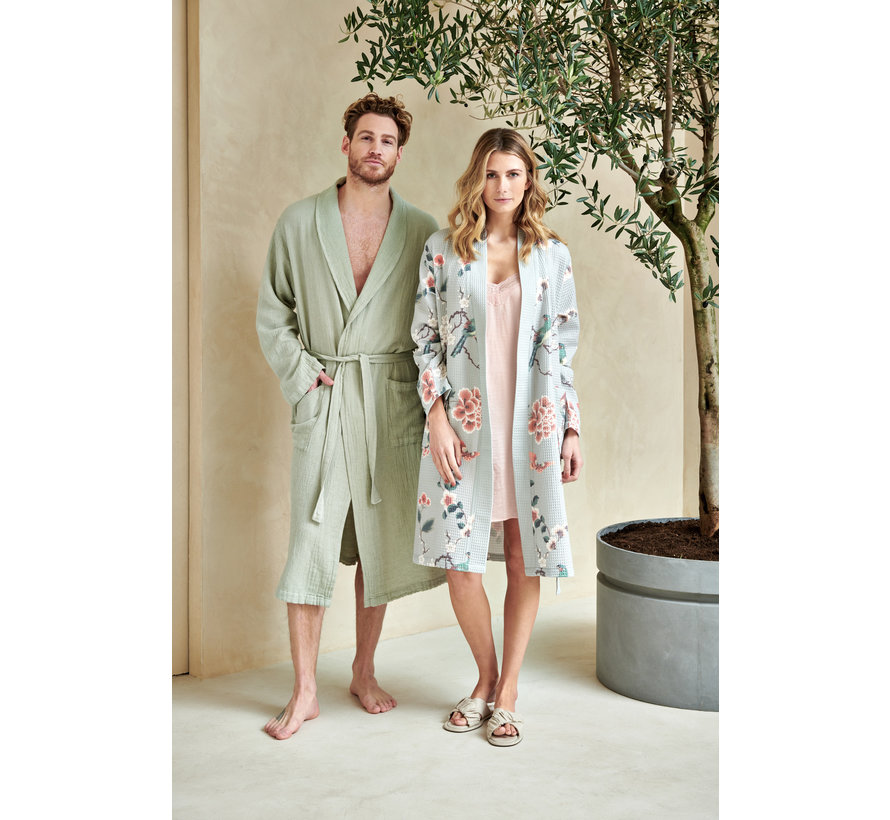 Waffle bathrobe MELODY color Champagne (BAGE21102)