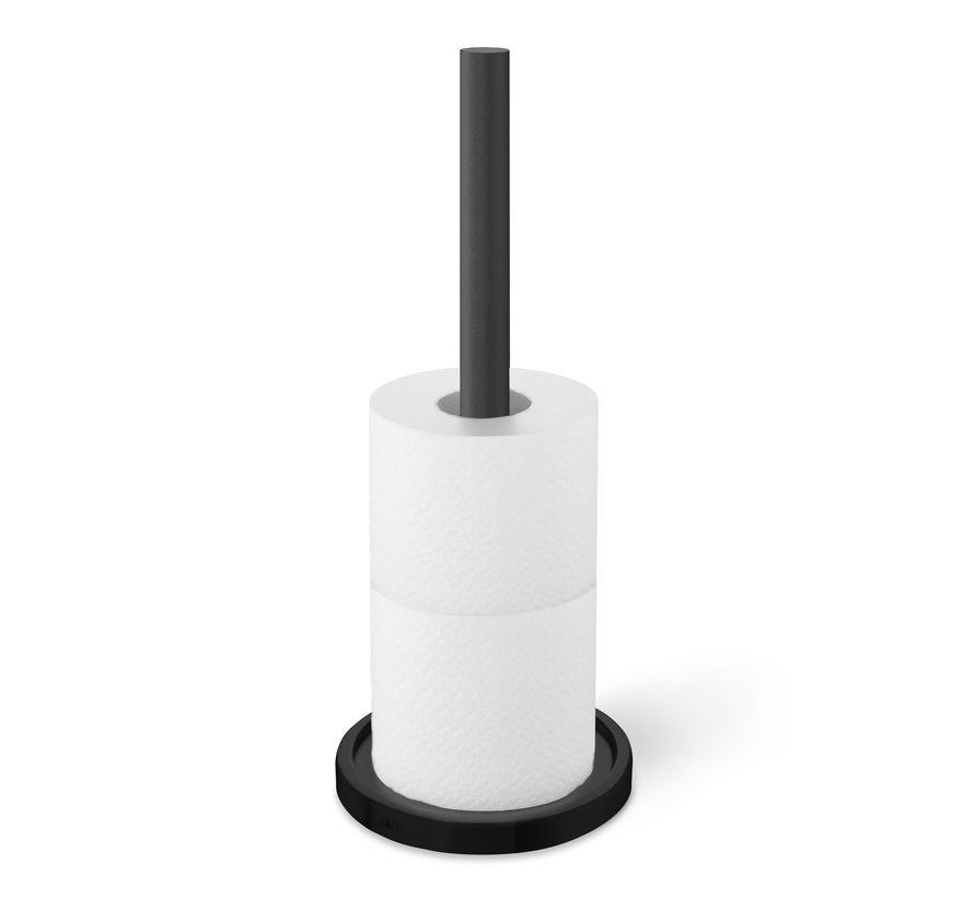 MIMO spare toilet roll holder black (40286)