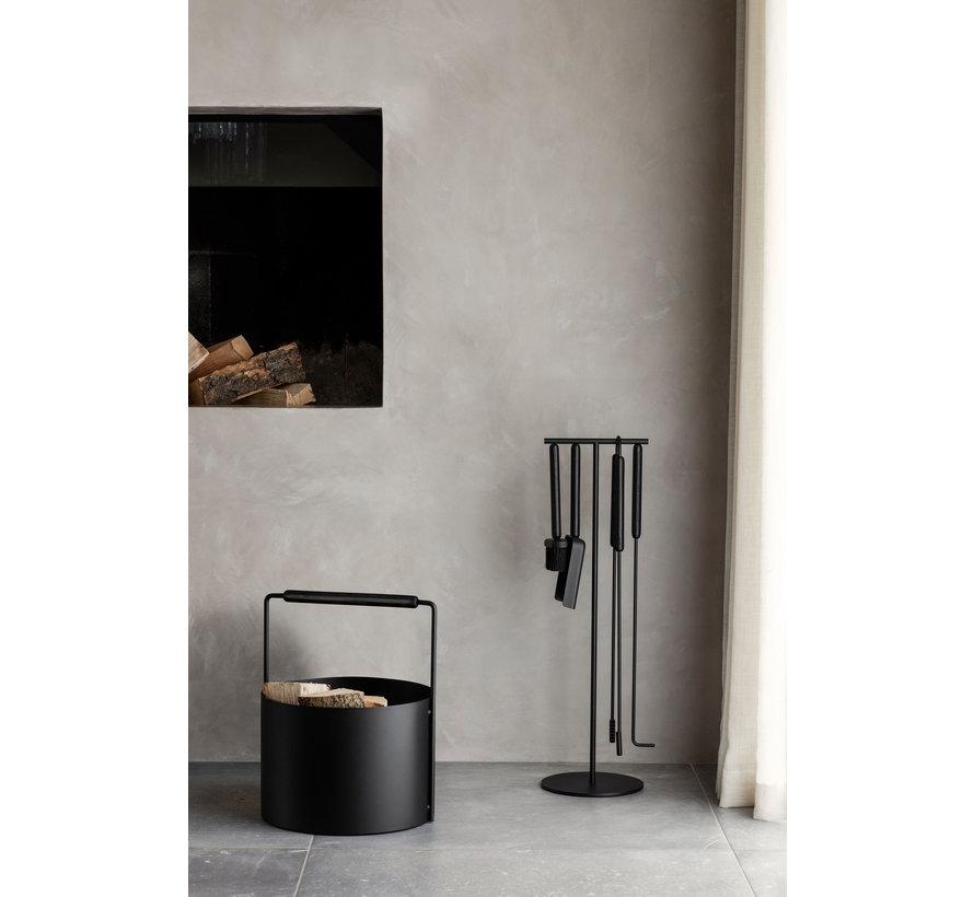 ASHI 5-piece fireplace set (black) 66154