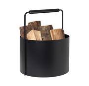 Blomus Panier à bois ASHI noir