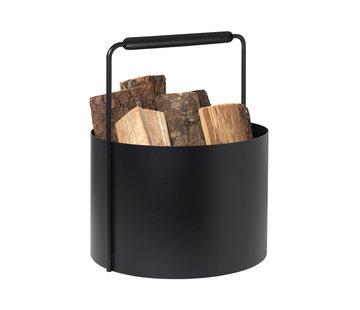 Blomus ASHI firewood basket black
