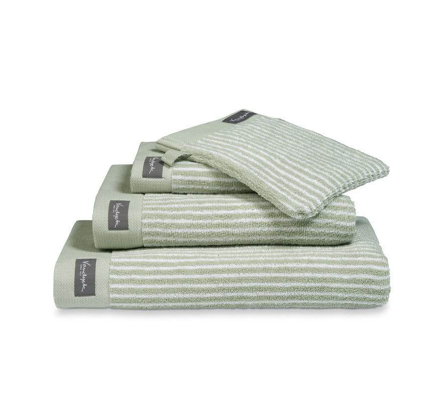 Washcloth HOME Petit Ligne color Smoke Green (BAKC15101) set/6