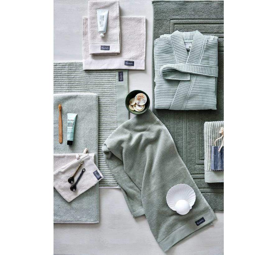 Guest towel HOME Mouliné color Smoke Green (BAKC18201) -set/6