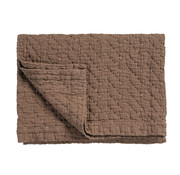 Vandyck PURE 10 plaid/bedspread 180x260 cm Brownie (cotton)