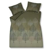 Vandyck Duvet cover PLANTY Oak Green 240x220 cm (satin cotton)