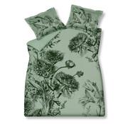 Vandyck Duvet cover NIGHT BLOOM Smoke Green 140x220 cm (satin cotton)