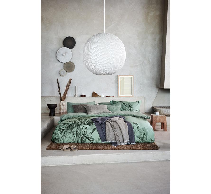 Duvet cover NIGHT BLOOM Smoke Green 140x220 cm (satin cotton) SAM121213