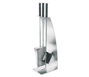 Blomus CHIMO 4-piece fireplace set (mat)
