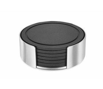ZACK VETRO glasonderzetter set/6 met houder (mat)