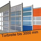 Industrie Sektionaltor lichte Breite bis 3000 mm