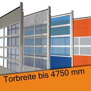 Industrie Sektionaltor für eine lichte Durchfahrtsbreite bis 4750 mm