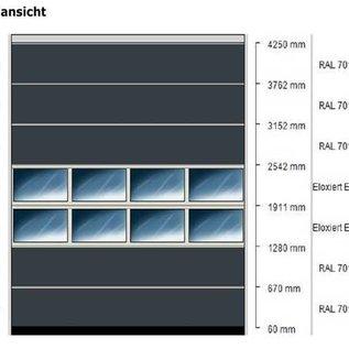 Industrie-Sektionaltor ISO 40 von Torkontor für die Maße 4000 x 4250 mm (BxH)