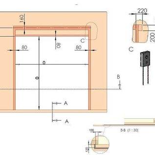 Industrie-Sektionaltor ISO 40 von Torkontor für die Maße 4250 x 4500 mm (BxH) mit Schlupftür