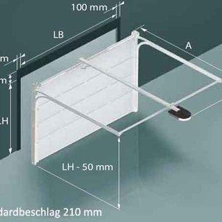Torkontor Garagensektionaltor für eine lichte Durchfahrtsbreite bis 2750 mm