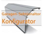 Stahl-Sandwich Garagentor Konfigurator