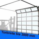 ALU-Rahmen Sektionaltor lichte Breite bis 3000 mm