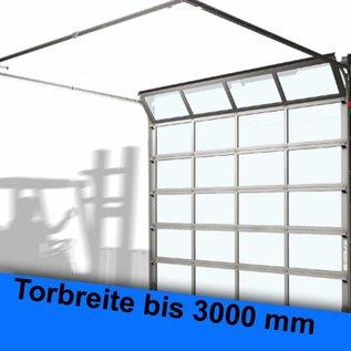 ALU-Rahmen-Sprossen Sektionaltor für eine lichte Durchfahrtsbreite bis 3000 mm