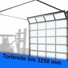 ALU-Rahmen Sektionaltor lichte Breite bis 3250 mm