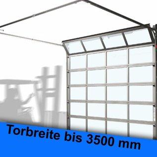 ALU-Rahmen-Sprossen Sektionaltor für eine lichte Durchfahrtsbreite bis 3500 mm