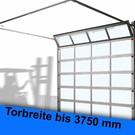 ALU-Rahmen Sektionaltor lichte Breite bis 3750 mm