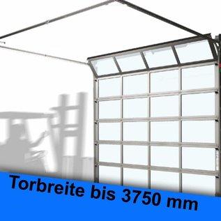 ALU-Rahmen-Sprossen Sektionaltor für eine lichte Durchfahrtsbreite bis 3750 mm
