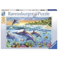 thumb-Dolfijnenbaai - puzzel van 500 stukjes-1