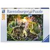 Ravensburger Wolvenfamilie in het zonlicht - puzzel van 500 stukjes