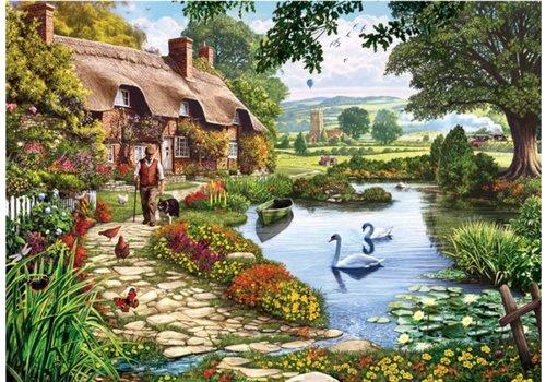 Cottage aan het meer - 1000 stukjes