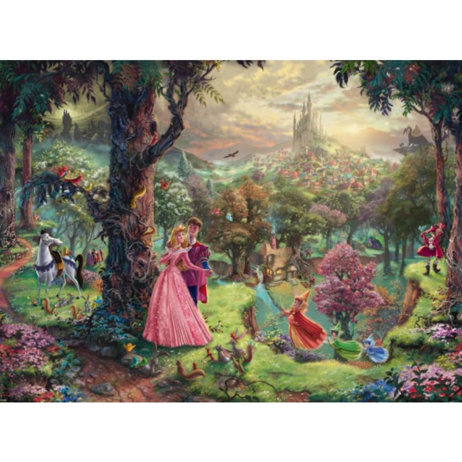La Belle au bois dormant - Thomas Kinkade - puzzle de 1000 pièces-1