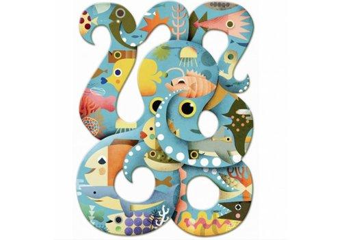 De kronkelige octopus - 350 stukjes